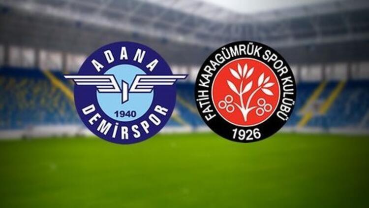 Süper Lige yükselecek son takım yarın belli olacak Adana Demirspor ile Fatih Karagümrük...