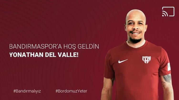 Son dakika transfer haberi   Yonathan Del Valle, Bandırmaspor'da