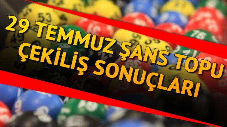29 Temmuz 2020 Şans Topu canlı çekiliş sonuçları belli oldu - MPİ 998. hafta Şans Topu sonucu sorgulama