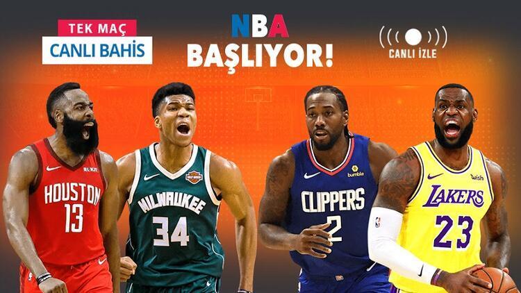 NBA'de heyecan yeniden başlıyor! Misli.com'da Tek Maç, Canlı Bahis ve Canlı İzle bir arada...