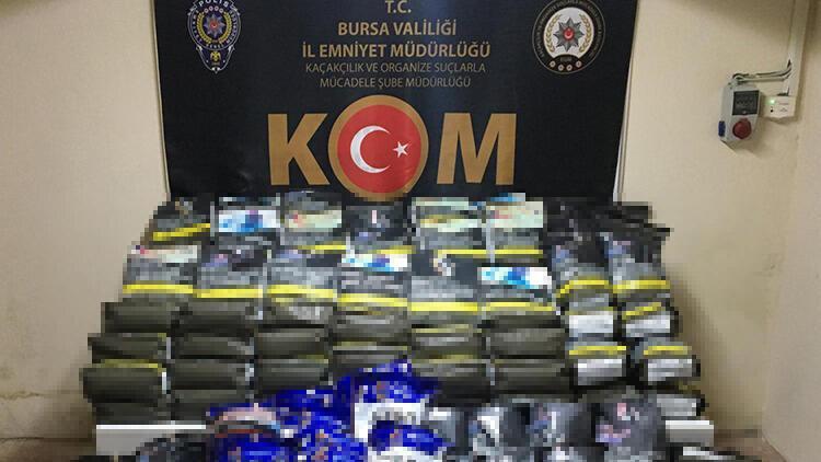 Bursa'da, 186 kilo bandrolsüz ve sahte bandrollü tütün ele geçirildi