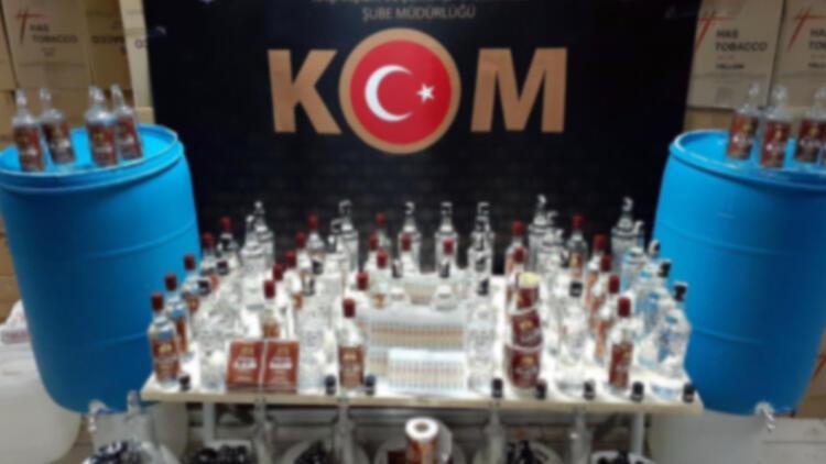 İzmirde sahte içki operasyonu