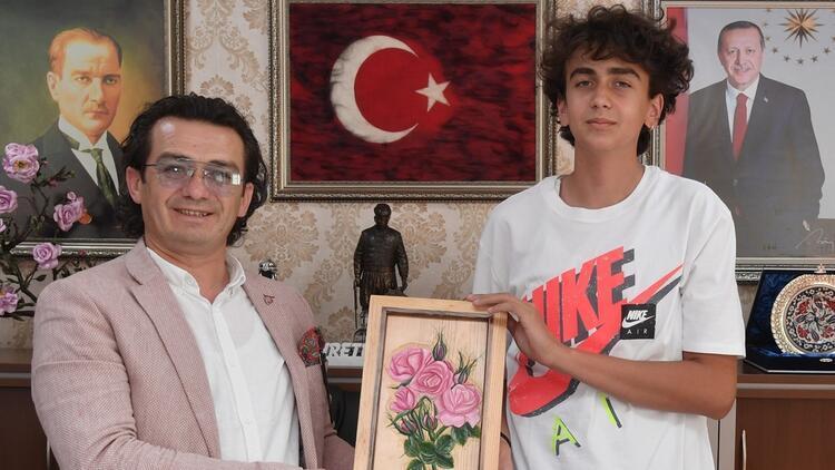 15 yaşında Türk Telekoma transfer oldu Ege Çağan Başçiftçi...