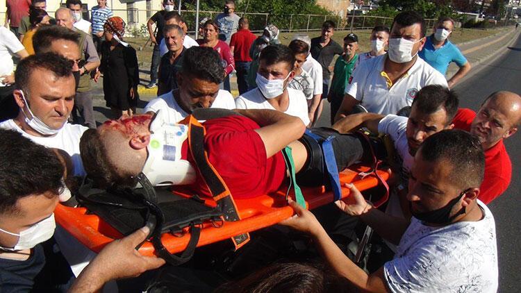 Önlemini almayan sürücü ağır yaralandı... İlk müdahale yoldan geçen doktordan geldi