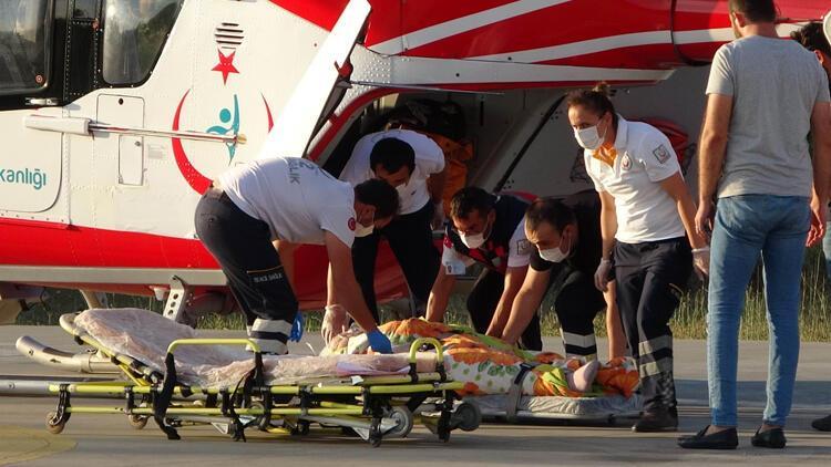 Samsunda bir hasta ambulans helikopterle hastaneye sevk edildi