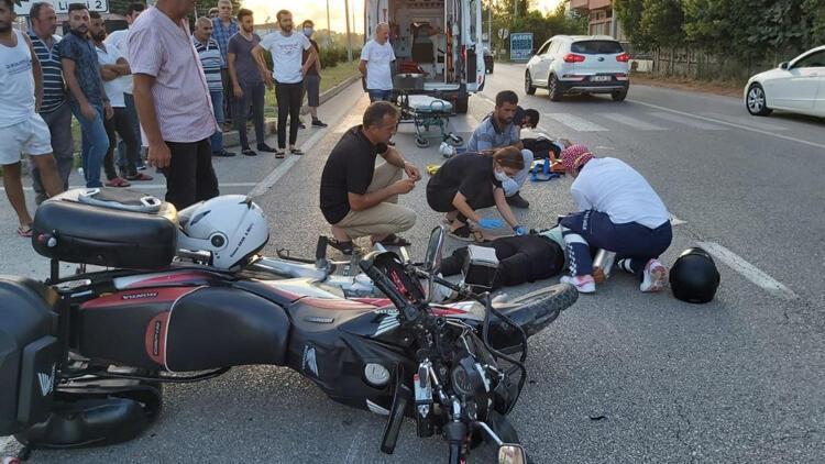 Samsun'da motosiklet kazası