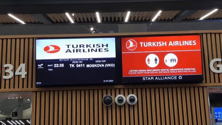 Koronavirüs nedeniyle durdurulmuştu! Türkiye-Rusya arasında uçuşlar yeniden başladı