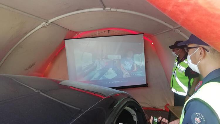 'Yaşam Çadırında' sürücü ve yolculara trafikte uymaları gereken kurallar izletildi