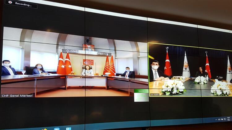 Siyasi parti heyetleri, video konferansla bayramlaştı
