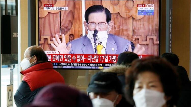 Güney Kore'deki vaka sayılarının üçte biriyle ilişkilendirilen tarikatın lideri gözaltına alındı