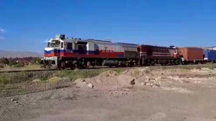 Çin'den yola çıkan 1056 metrelik blok tren Türkiye'ye ulaştı