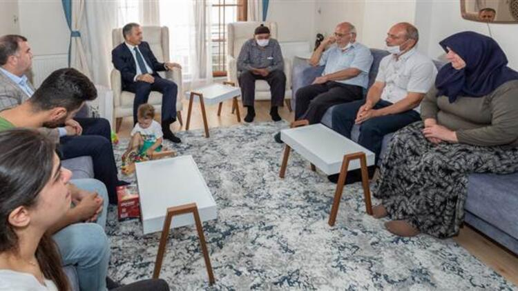 Vali Yerlikaya'dan şehit ailesine ziyaret