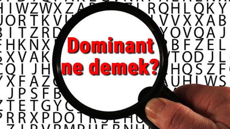 Dominant ne demek? Dominant nedir? Dominant TDK kelime anlamı