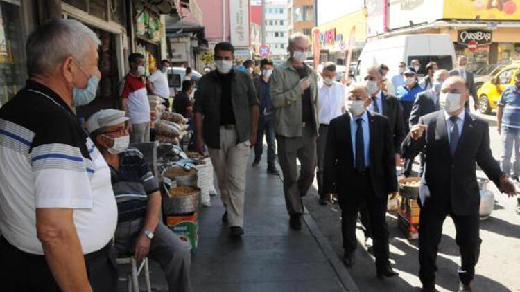 Kayseri'de vali ve belediye başkanından 'koronavirüs' denetimi