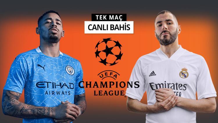 Şampiyonlar Ligi'nde dev eşleşme! Manchester City'nin Real Madrid galibiyetine iddaa'da...