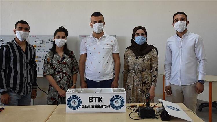 Cizre'de öğrenciler hava sterilizasyon cihazı geliştirdi
