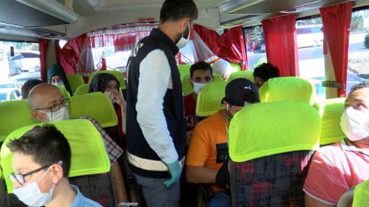 15 Temmuz Demokrasi Otogarı'nda otobüslerde denetim