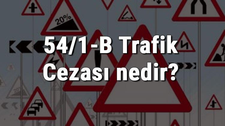 54/1-B Trafik Cezası nedir? Madde 54/1-B Trafik Cezası ne kadar? Ceza puanı kaçtır? (2020)