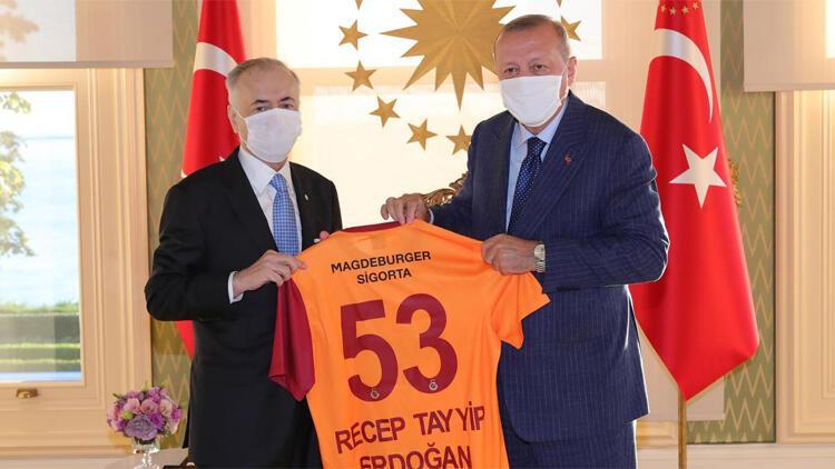 Cumhurbaşkanı Erdoğan, Galatasaray Başkanı Mustafa Cengiz'i kabul etti