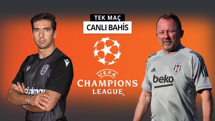 Beşiktaş, Şampiyonlar Ligi aşkına! PAOK karşısında Kara Kartal'ın iddaa oranı...