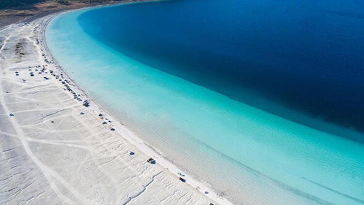 NASAnın paylaştığı Salda Gölünün beyaz kumu aslında fosil
