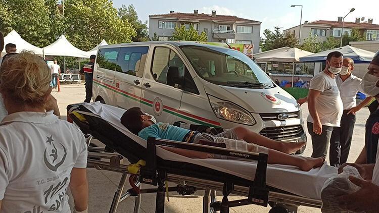 Üzerine kaynar su dökülen çocuk, yaralandı