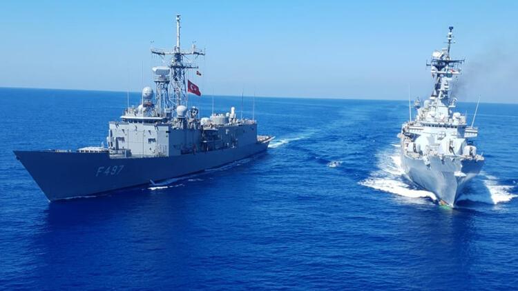 Son dakika haberi... MSB paylaştı: Doğu Akdeniz'de geçiş eğitimleri icra edildi