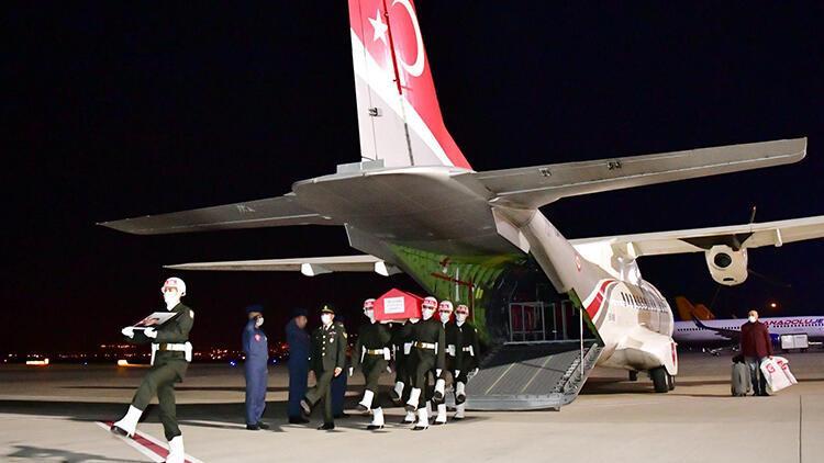 Şehit Uzman Çavuş Bilal Yılmaz'ın naaşı Gaziantep'e getirildi