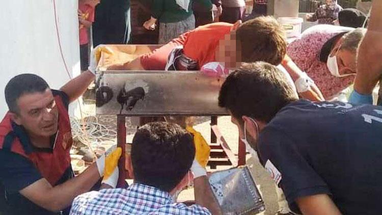 Osmaniye'de feci olay! 12 yaşındaki çocuk elini salça çekme makinesine kaptırdı