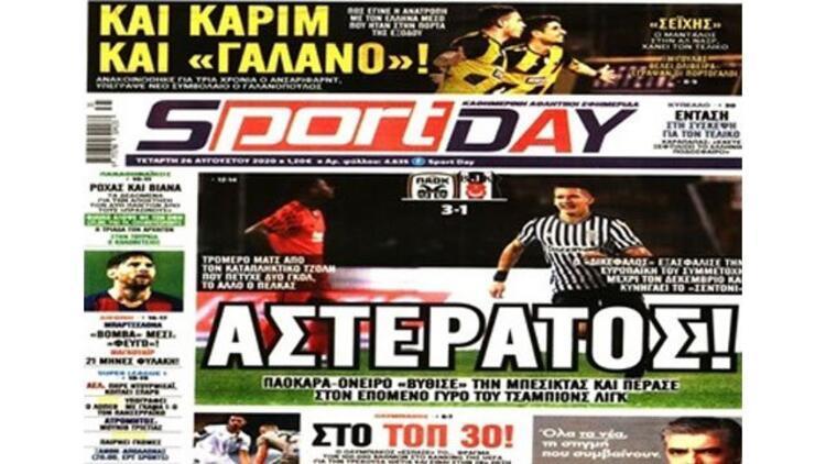 """Yunan basınında Beşiktaş maçının yankıları! """"Rüya gibi..."""""""