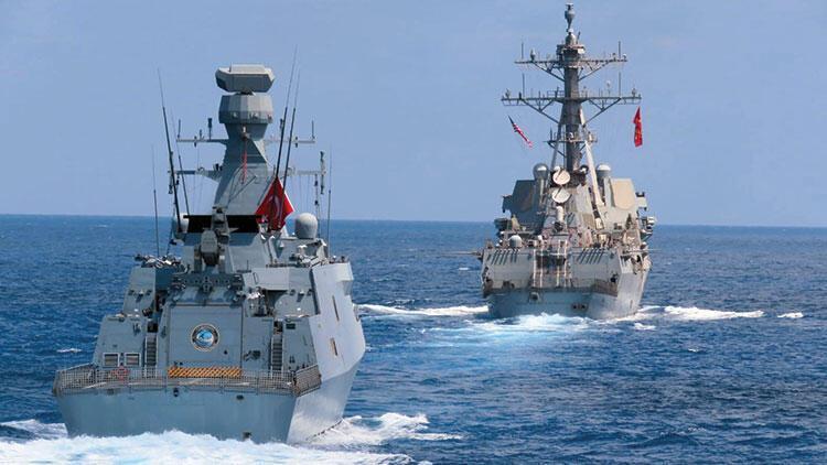 Türk donanması ABD gemileriyle eğitim yaptı