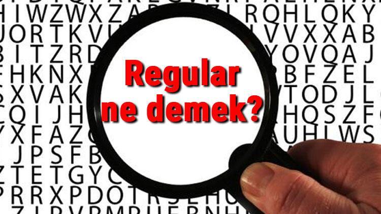 Regular ne demek? İngilizce Regular kelimesinin Türkçe anlamı nedir?