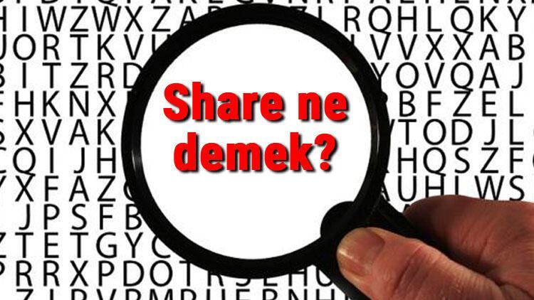 Share ne demek İngilizce Share kelimesinin Türkçe anlamı nedir