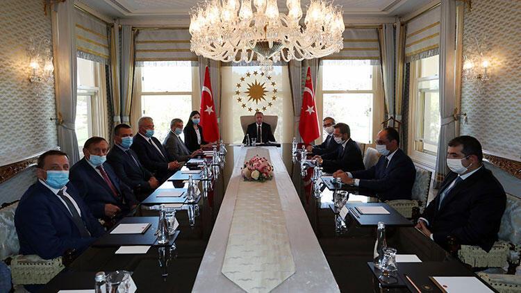 Cumhurbaşkanı Erdoğan, Ukrayna Başbakan Yardımcısı Oleg Uruskiyi kabul etti