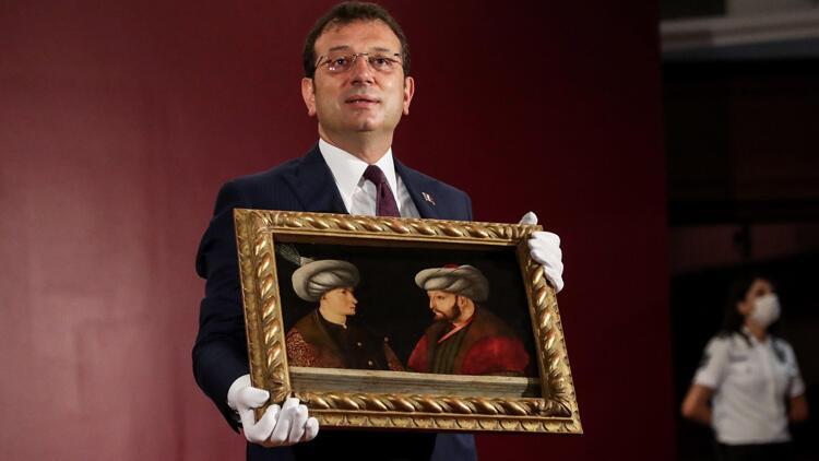 Fatih Sultan Mehmetin portresi basın mensuplarına gösterildi