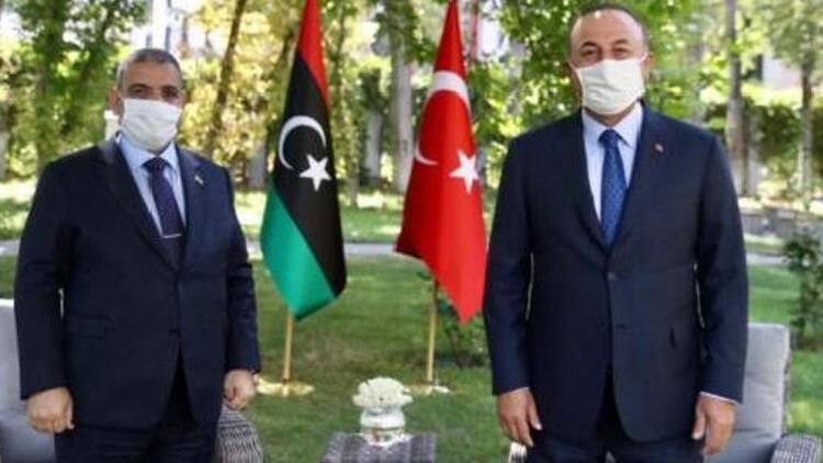 Bakan Çavuşoğlu, Libya Yüksek Devlet Konseyi Başkanı ile görüştü
