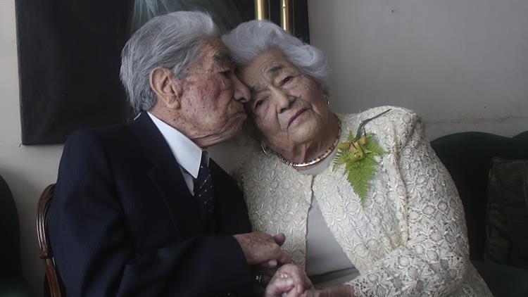 """Ekvadorlu çift, """"yaşayan en yaşlı evliler"""" olarak Guinness Rekorlar Kitabı'na girdi"""