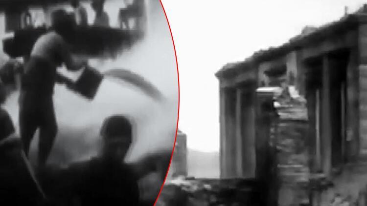 Yunan askerlerinin 1921'de Afyonkarahisar'da çıkardığı yangının fotoğrafları ortaya çıktı