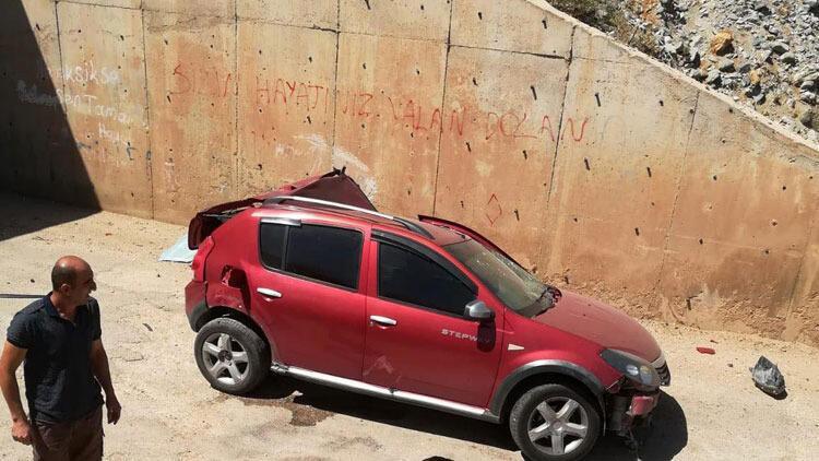 Otomobil köprüden alt geçide uçtu: 1 ölü, 2 yaralı