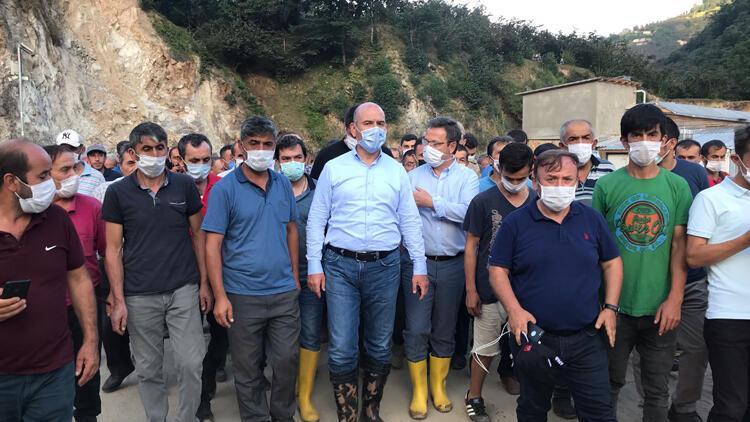 İçişleri Bakanı Süleyman Soylu, Dereli ve Espiye ilçelerinde incelemelerde bulundu