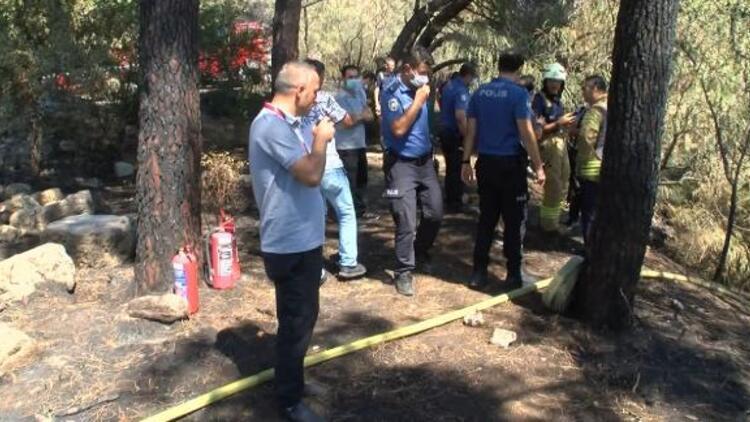 Maltepe'de ormanlık alanda yine yangın... Etrafa sıçramadan söndürüldü