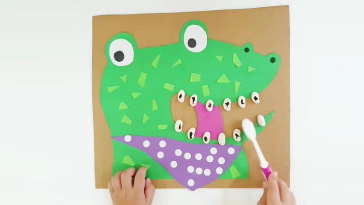 Çocuklara diş fırçalamayı sevdirecek etkinlik