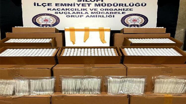 Şırnak'ta kaçakçılık operasyonu: 5 bin 20 test kiti ele geçirildi