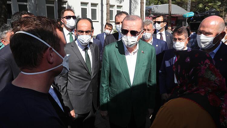 Son dakika... Cumhurbaşkanı Erdoğan, sel felaketinin yaşandığı Giresun'da: 'Esnafa bazı müjdeler vereceğim'