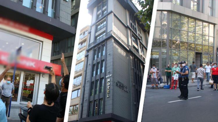 Şişli'de korkunç olay! Otelin çatı katından kafasına cam düştü