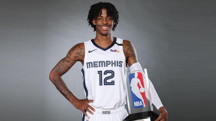 """NBA'de """"yılın çaylağı"""" Ja Morant"""