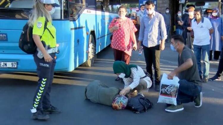 Ankara'da halk otobüsünün çarptığı kadın yaralandı