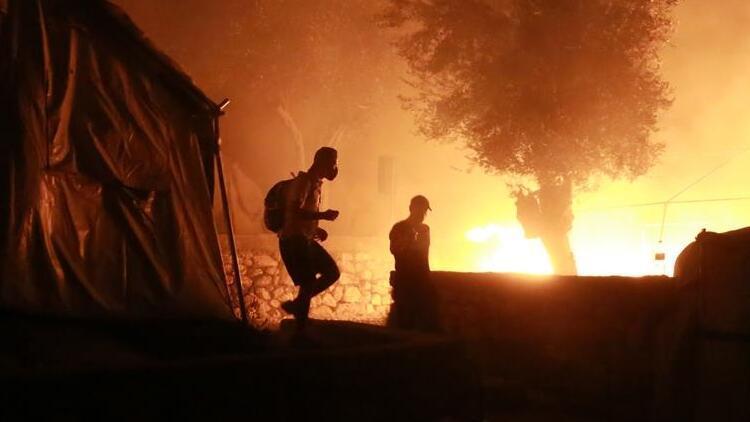 Sığınmacı kampında korkutan yangın!