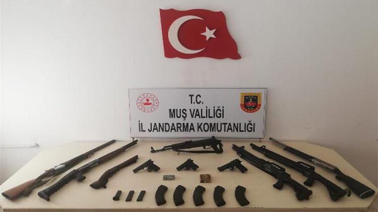 Muş'taki silah ve mühimmat operasyonunda 4 tutuklama