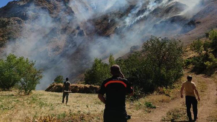 Ot yangını, jandarma ve orman ekipleri tarafından söndürüldü